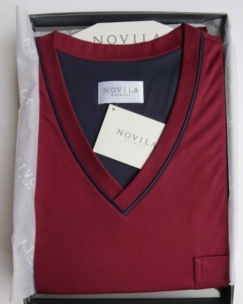 Herren Nachthemd Tobias bordeauxrot NOVILA