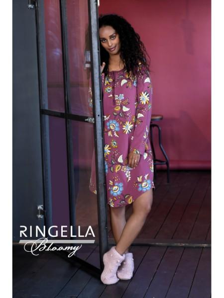 Bigshirt mit Knopfleiste rosenholz Bloomy by RINGELLA