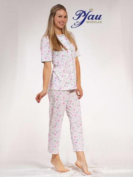"Pyjama 100% Baumwolle ""Blümchen"" PFAU MODELLE"