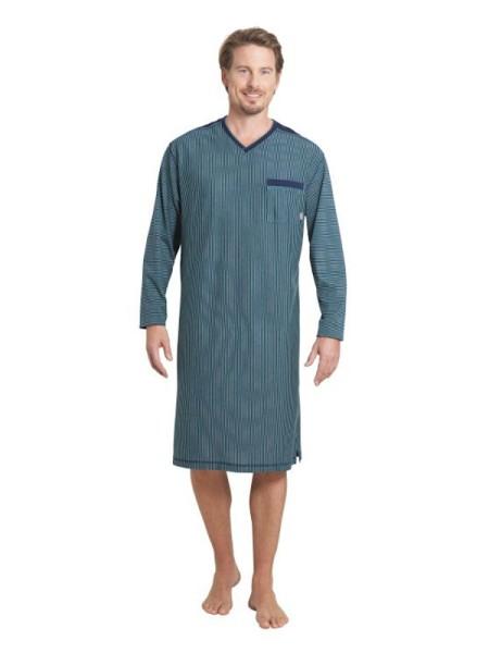 Herren Nachthemd Klima Light marine grün hajo