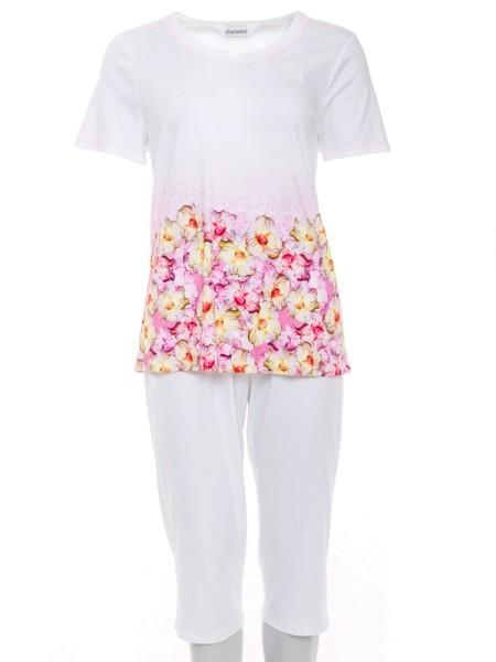 Schlafanzug mit Caprihose charmor