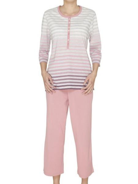 Schlafanzug 3/4 Arm Klima-Komfort hajo