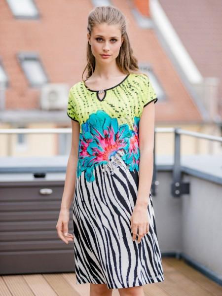 attraktives Strandkleid grün schwarz - HUTSCHREUTHER