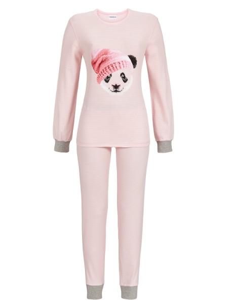 """Schlafanzug """"Panda"""" rosé mit Bündchen"""