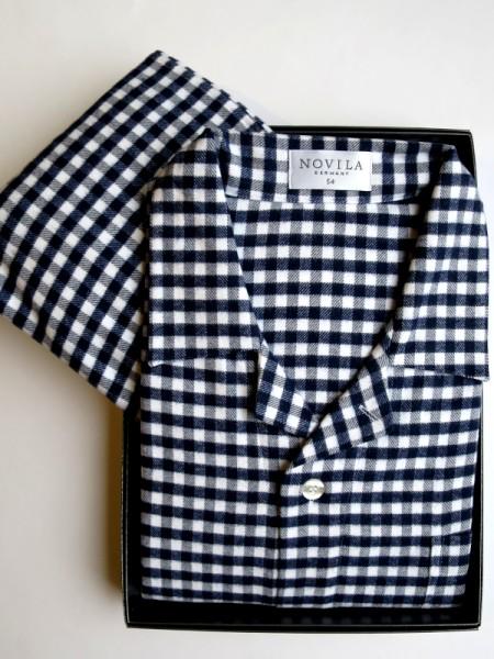 Flanell Pyjama Max für Herren marine Karo NOVILA