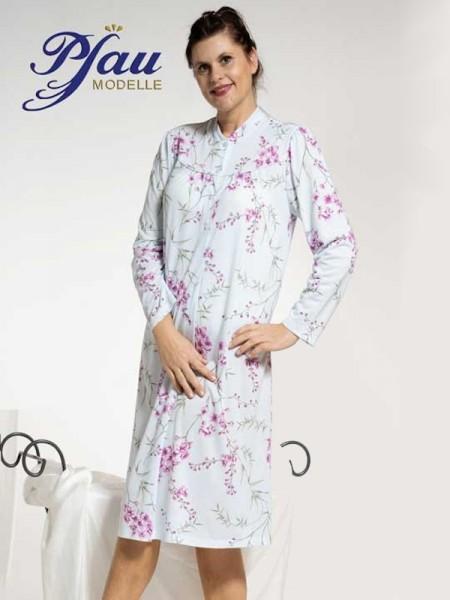 Damen Nachthemd mit Stehkragen Baumwolle/Modal PFAU MODELLE