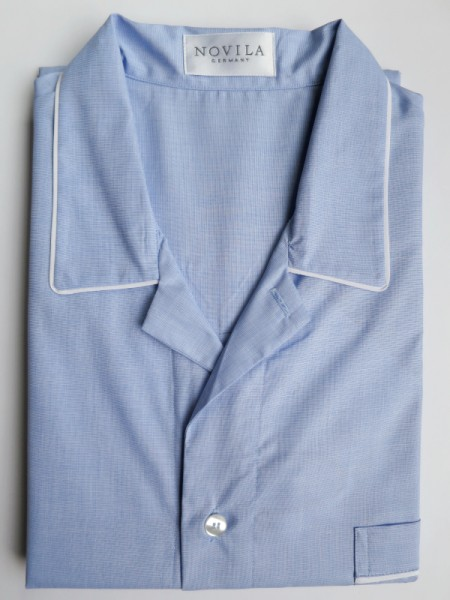 Herren Nachthemd Paul hellblau NOVILA