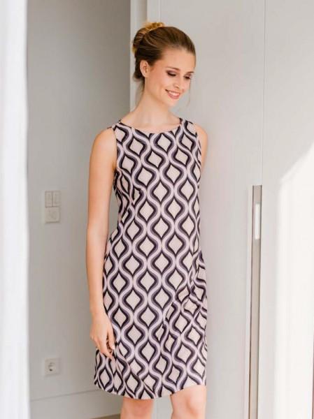 Strandkleid - Hauskleid Modal/Baumwolle rosé grau - HUTSCHREUTHER