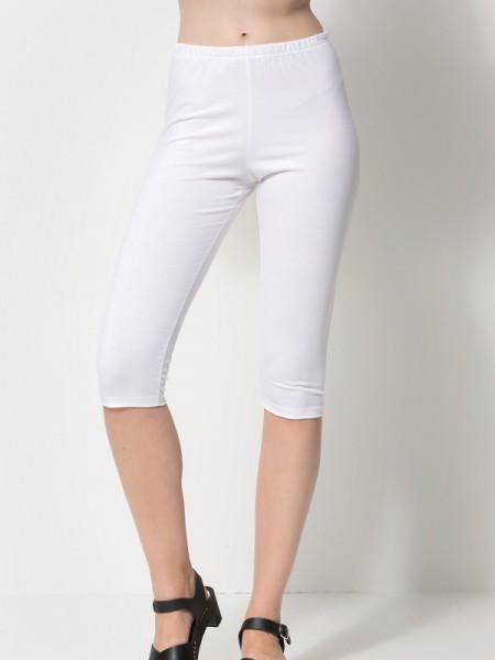 Leggings 3/4 lang weiß nanso