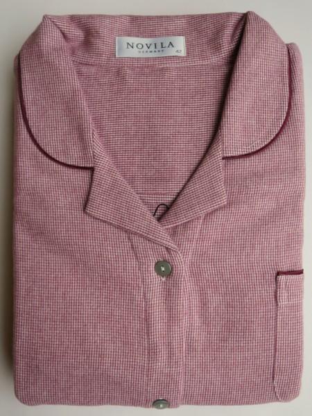 Flanell Damen Nachthemd Marlene 120cm mauve NOVILA