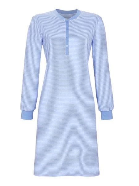 Damen Frottée Nachthemd mit Knopfleiste RINGELLA
