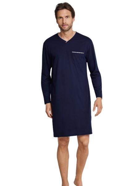 Herren Nachthemd langarm nachtblau Seidensticker