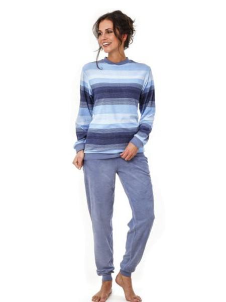san francisco af43a e4529 Klima-Frottee Schlafanzug mit Bündchen hajo