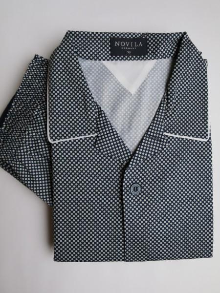 eleganter Herren Pyjama Ben marine Muster NOVILA