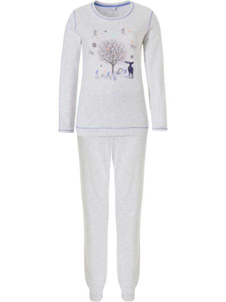 Schlafanzug Bündchen WINTERTALES pastunette
