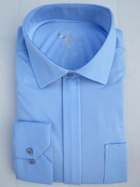 LIBERO DOPPIO Jerseyhemd Reißverschluss hellblau