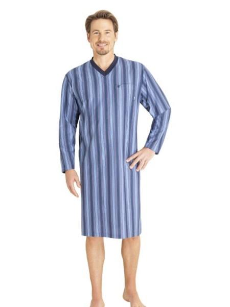 Herren Nachthemd Klima-Komfort Langarm von hajo