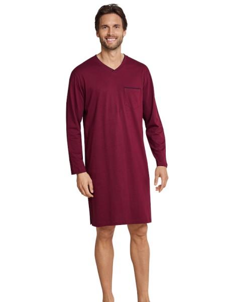 Herren Nachthemd langarm dunkelrot Seidensticker