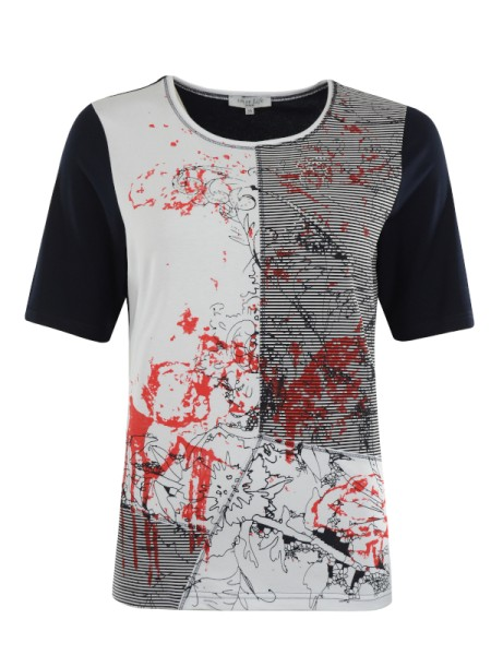 Damen T-Shirt marine/natur HAJO