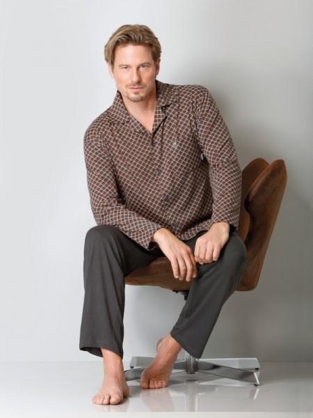 Herren Pyjama Jersey Cotton Tencel Hajo