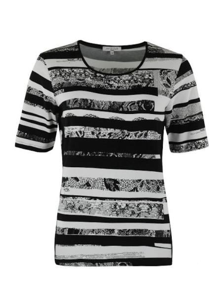 Shirt schwarz weiß in Viscose HAJO