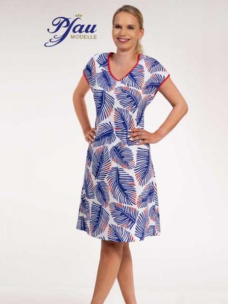 Hauskleid - Bigshirt blau weiß PFAU MODELLE