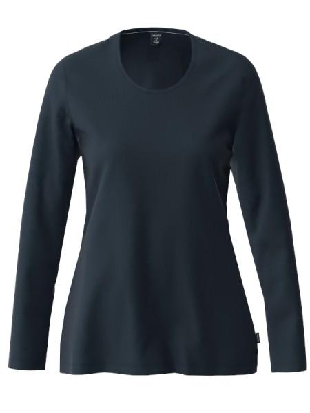 Damen Langarm Shirt Bio Baumwolle marine AMMANN