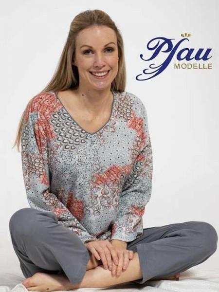 Damen Schlafanzug Baumwolle/Modal eis terra PFAU MODELLE
