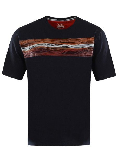 """Herren T-Shirt """"VIBES"""" dunkelblau hajo"""