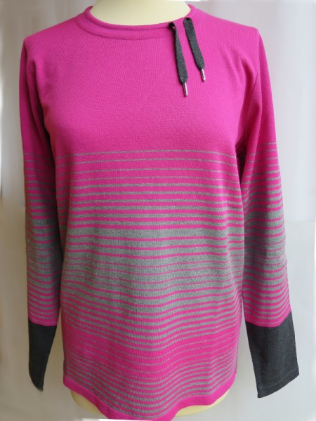 Damen Pullover Modal dahlie grau - SIEGEL
