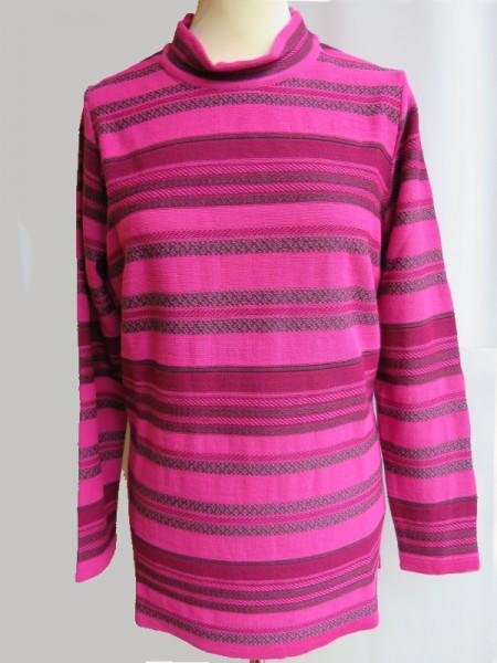 Damen Pullover Schurwollmischung pink beere - SIEGEL