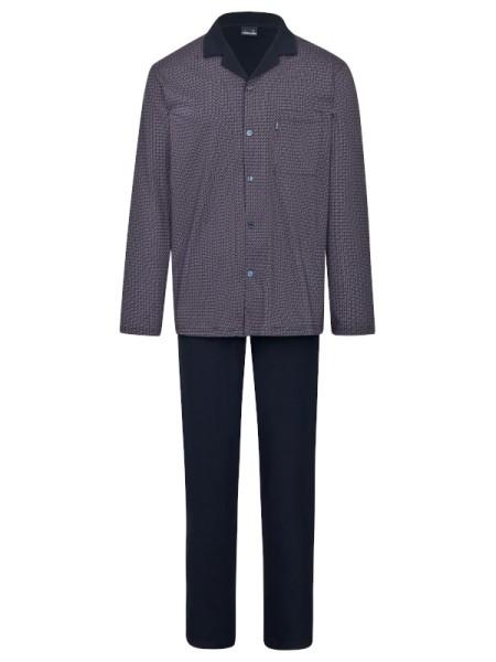 Herren Pyjama Jersey 100% Baumwolle AMMANN