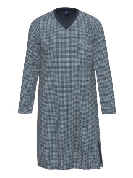 Herrennachthemd 1/1 Arm grün marine AMMANN