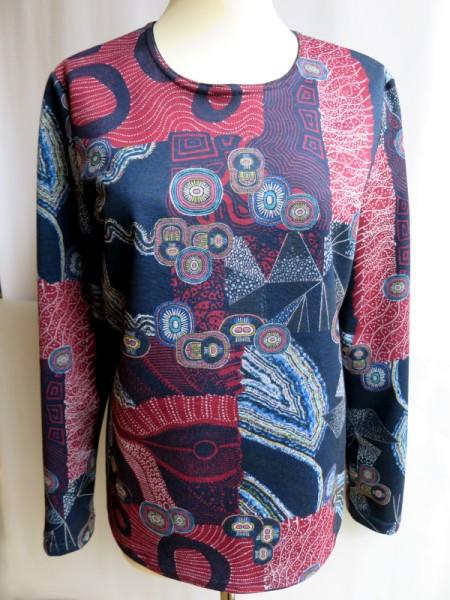 Damen Shirt Winter-Baumwolle marine vino SIEGEL