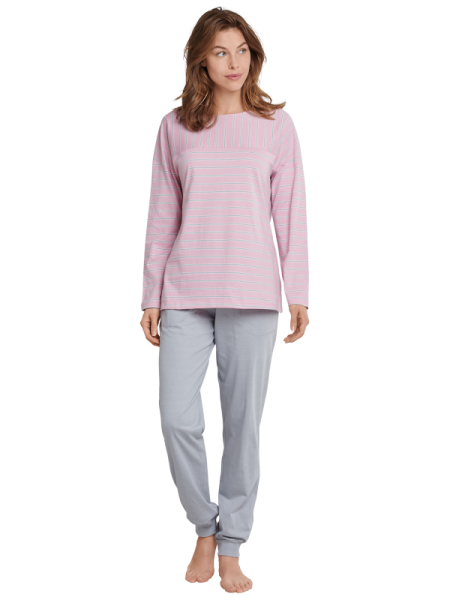 Damen Schlafanzug rose/grau Seidensticker