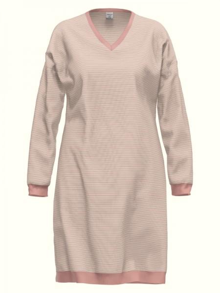 Damen Nachthemd rosa Ringel AMMANN