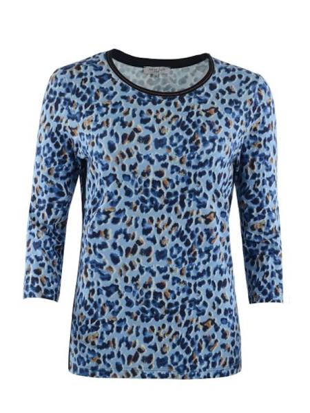 Shirt 3/4 Arm blauer Tiger HAJO