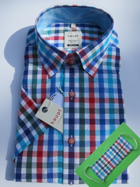 sommerliches Hemd blaurot Karo - haupt