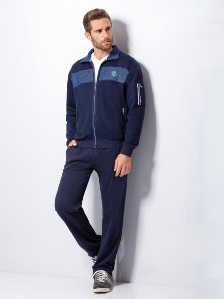 Herren Homewear Anzug Klima-Komfort dunkelblau hajo