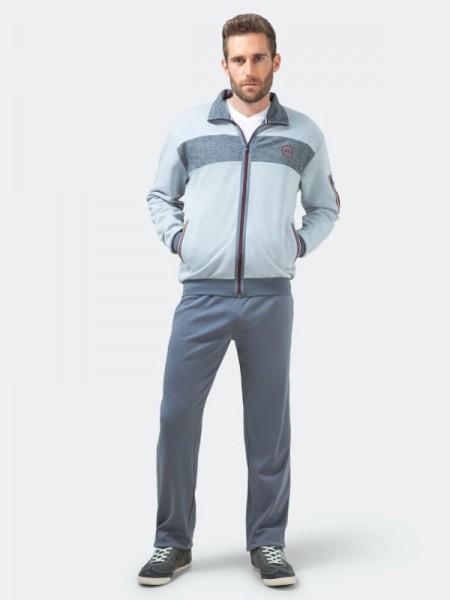 Herren Homewear Anzug Klima-Komfort hellgrau hajo