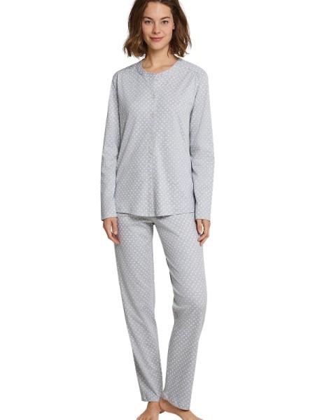 Damen Schlafanzug grau Interlock Seidensticker