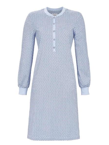Damen Nachthemd mit Knopfleiste in bleu RINGELLA