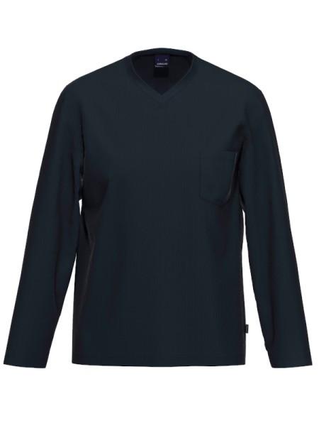 Herren Shirt Langarm Bio Baumwolle Mix & Match marine AMMANN