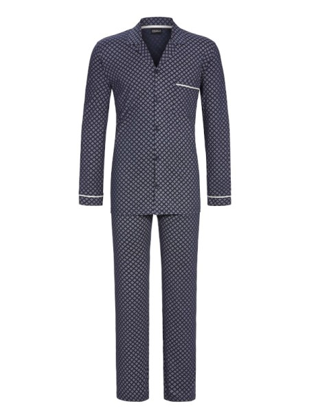 Herren Pyjama in Jerseyqualität dunkelblau RINGELLA
