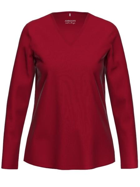 Damen Langarmshirt Bio Baumwolle Rio Red AMMANN