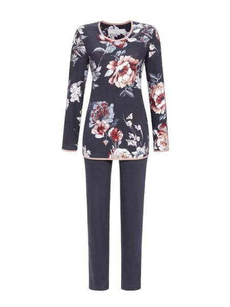 Damen Schlafanzug Big Flowers in Baumwolle / Modal - RINGELLA