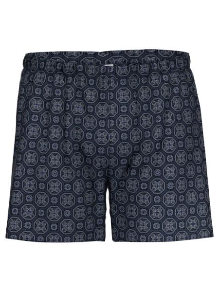 Boxershort 100% Baumwolle marine Muster AMMANN