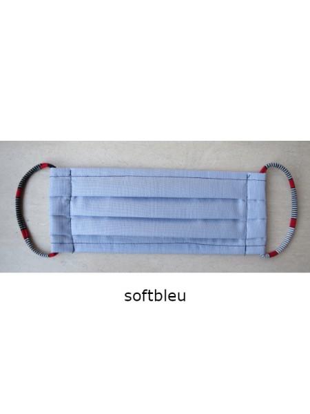 Mund- & Nasen- Bedeckung 100% Baumwolle softbleu