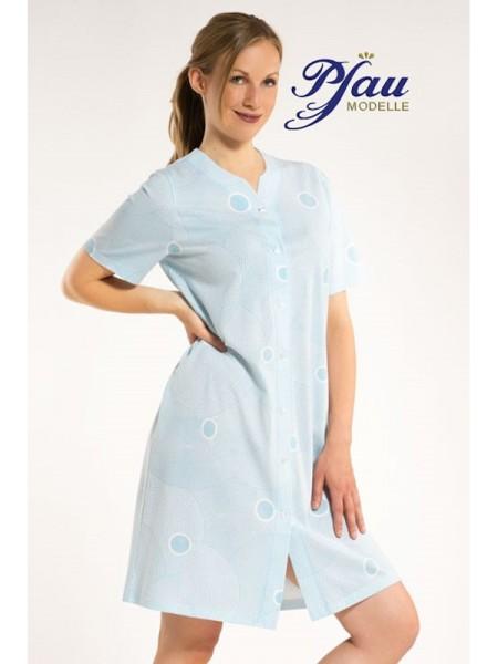 Nachthemd durchgeknöpft hellblau PFAU