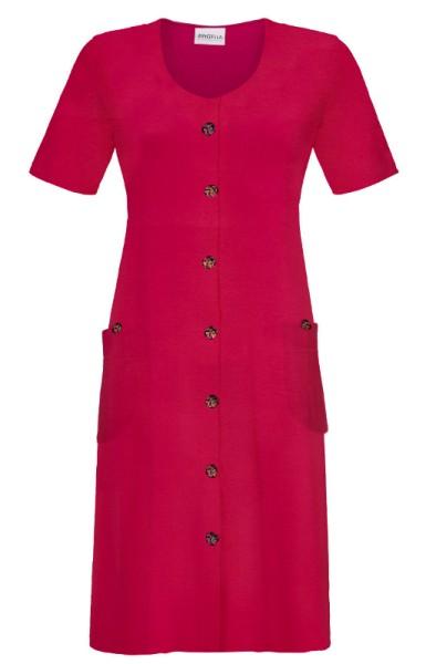 Frotteekleid mit Knöpfen summer red RINGELLA